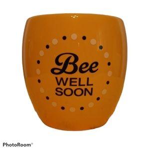 Yellow Flower Vase - Bee Well Soon - Teleflora